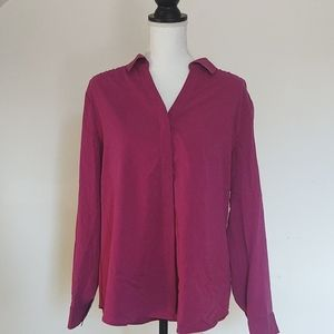 NWOT! Chico's MOP buttons soft modal blouse size 2